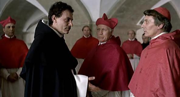 "Cena do filme ""Giordano Bruno""."